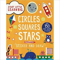 Start Little Learn Big Circles Squares Stars - Sticker and Draw