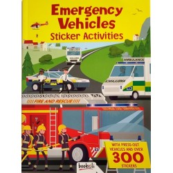 Emergency Vehicles Sticker Activities