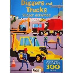Diggers and Trucks Sticker Activities